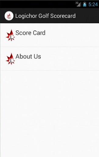 Logichor Golf Scorecard