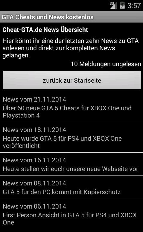 GTA Cheats und News - screenshot