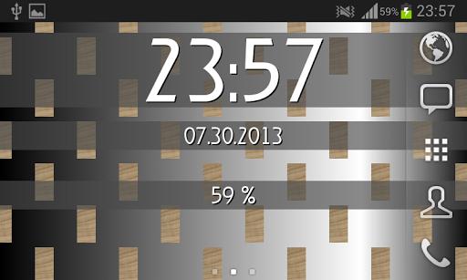 【免費個人化App】Clock & Battery wallpaper free-APP點子
