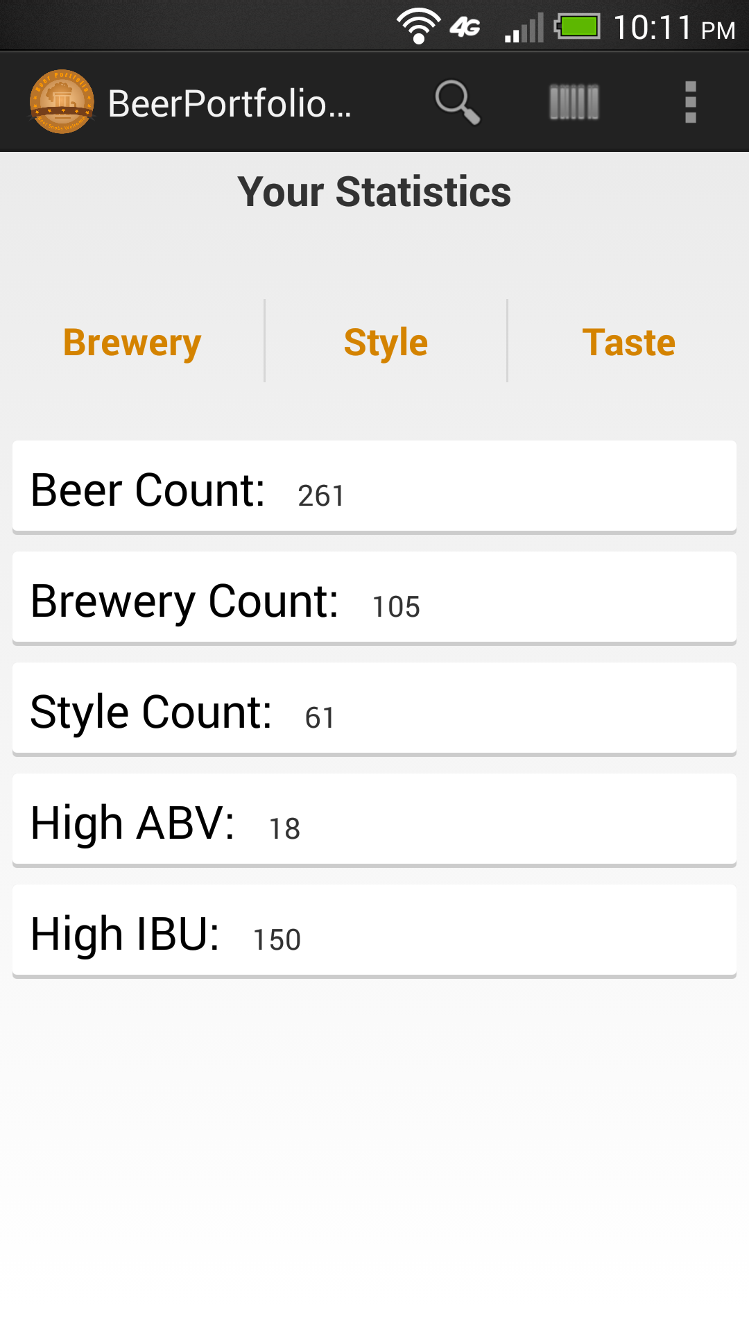 Beer Portfolio Pro - screenshot