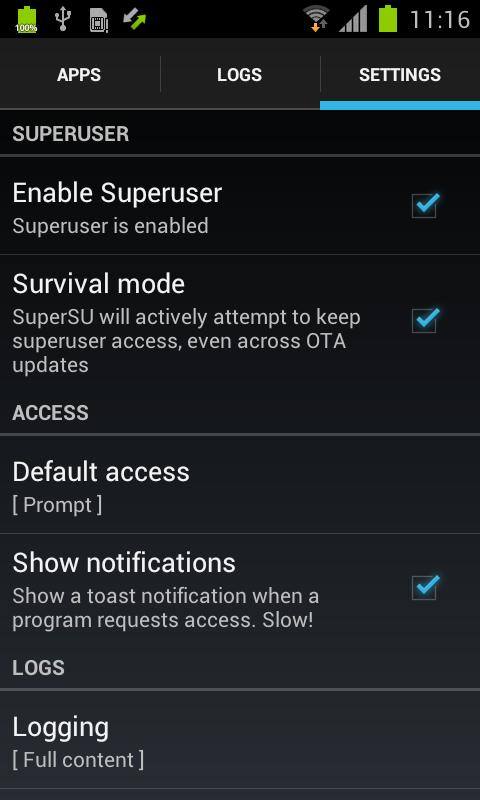 Download SuperSU Pro APK 750Kb