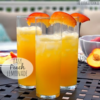 Easy Peach Lemonade (Adult and Child versions!)