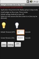 Screenshot of Widget Screen ON 2