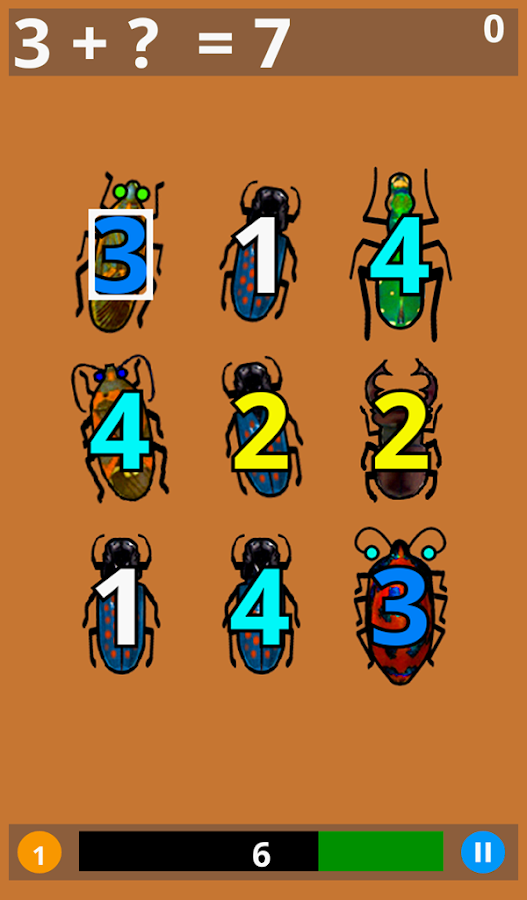 Math Bugaboo Lite - screenshot