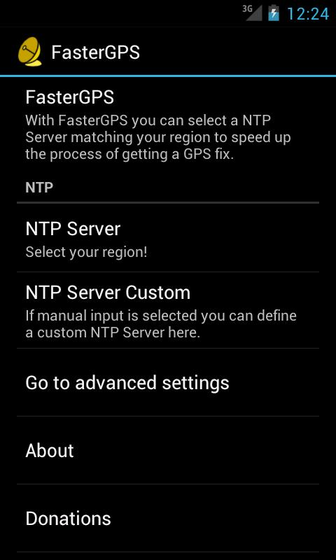FasterGPS - screenshot