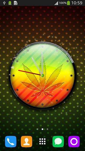 Rasta Weed 3D Clock