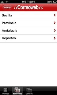 El Correo Web - screenshot thumbnail
