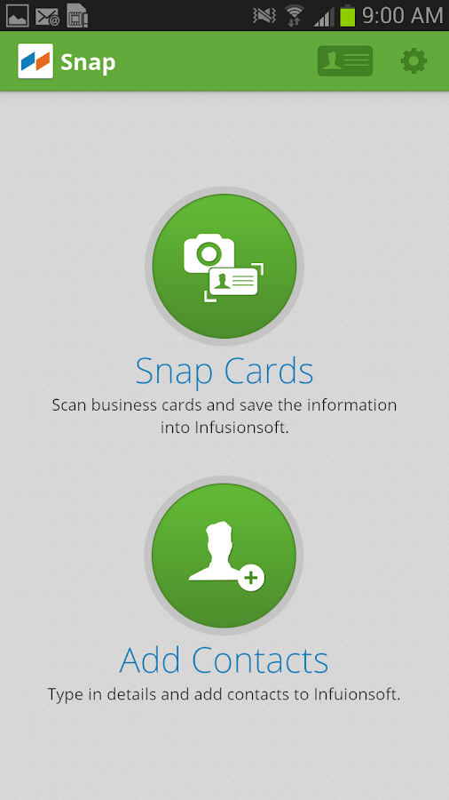 Snap by Infusionsoft - screenshot