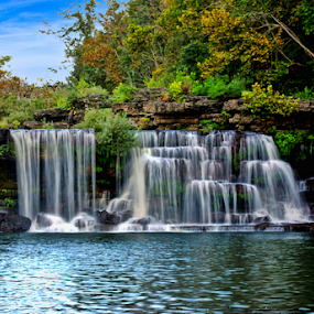 Rock Island Falls by Steve Rogers - Nature Up Close Natural Waterdrops ( waterfalls, cascade, waterfall, tennessee )