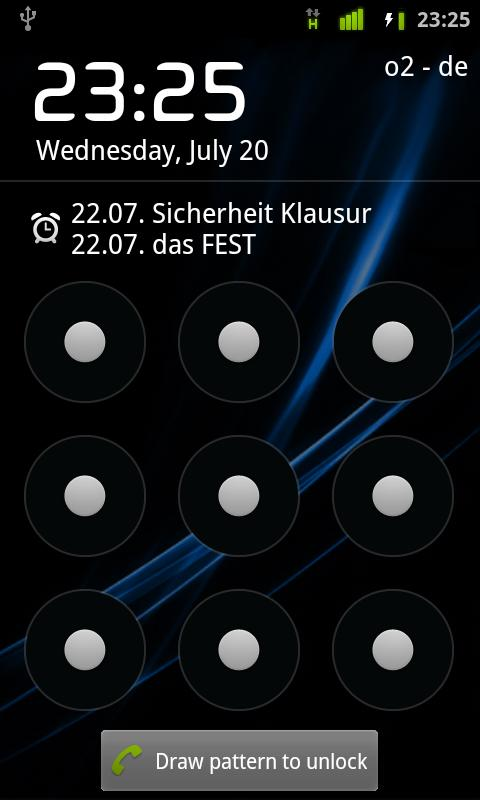 Lockscreen Calendar - screenshot