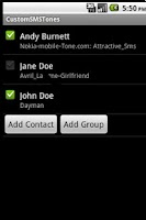 Screenshot of Custom SMS Tones