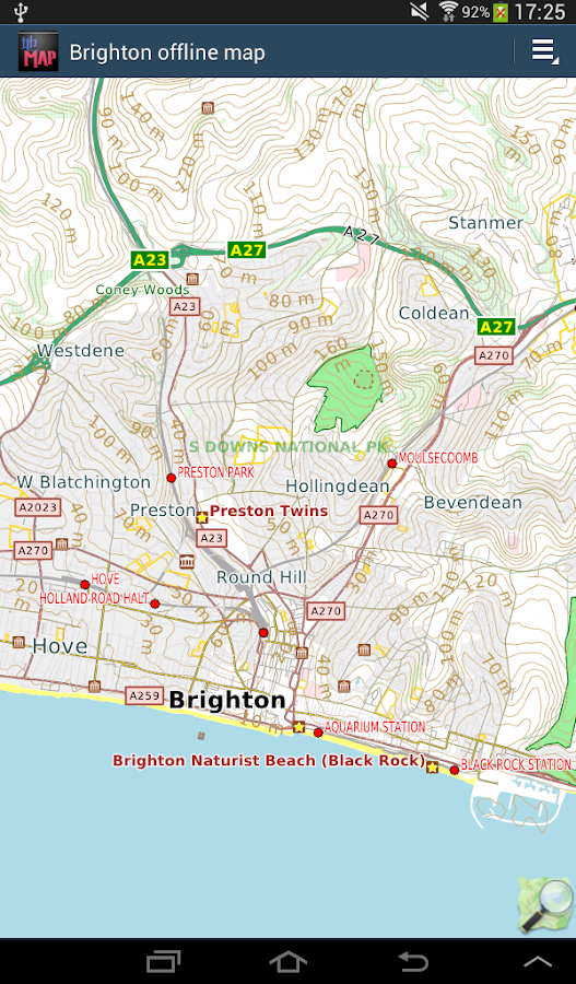 Brighton England offline map Android Apps on Google Play