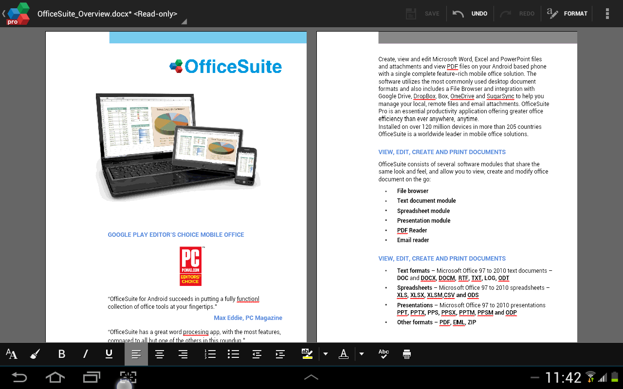 OfficeSuite 7 Pro (PDF&Fonts) - screenshot