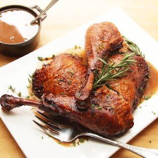 Red-Wine Braised Turkey Legs.