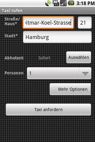 Taxi-Knigge Button – Screenshot