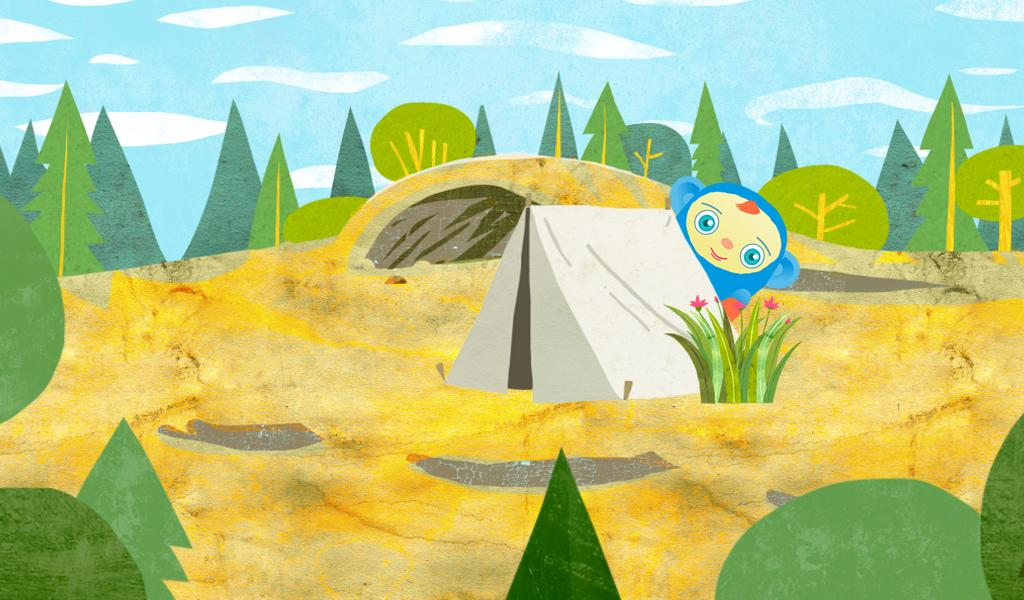 Peekaboo Goes Camping Game - screenshot