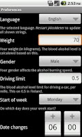 Screenshot of jAlcoMeter