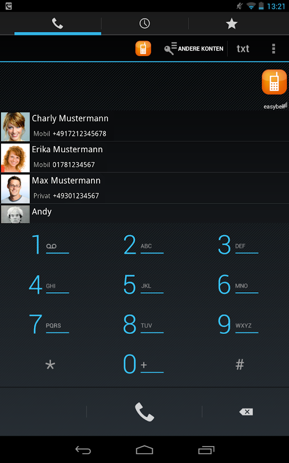easybell – VoIP to go- screenshot