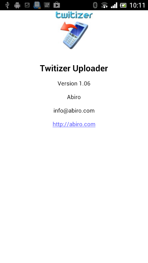 Twitizer Uploader - screenshot