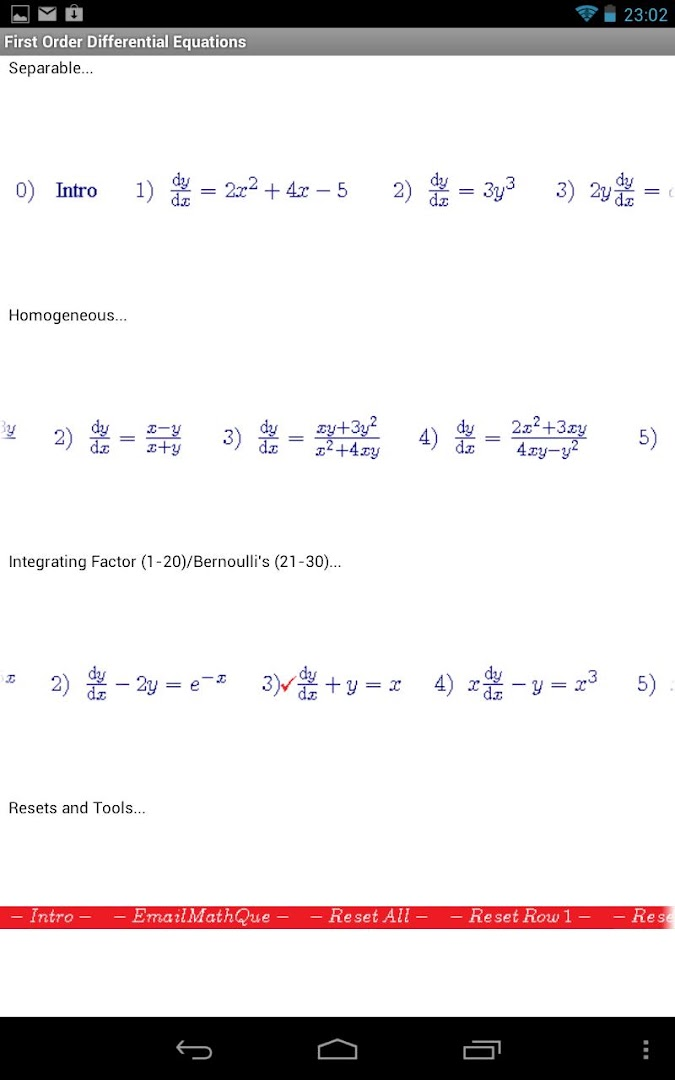 Differential Equations I Google Play Store revenue download – Differential Equations Worksheet