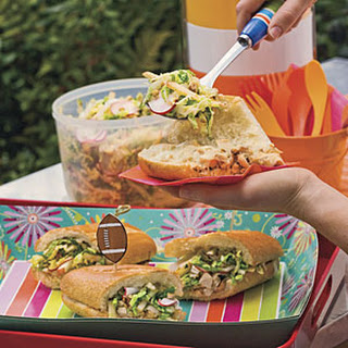 Chopped Chicken Sandwich With Crunchy Pecan Slaw