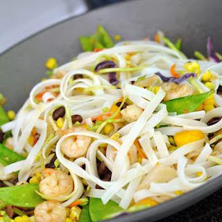 Black Bean Mango Stir Fry with Cilantro Lime Coconut Sauce.