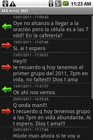 Mi Lector SMS - screenshot