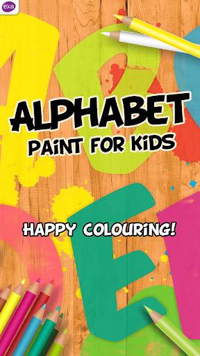 油漆字母为孩子