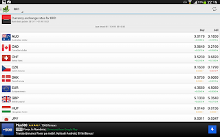 Screenshot of Curs Valutar Plus