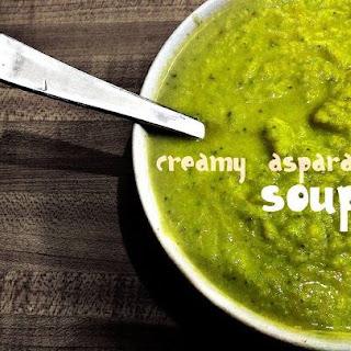Vegan Creamy Asparagus Soup.