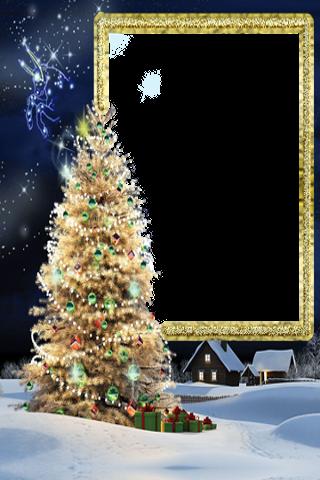 クリスマスと新年のフォトフレーム