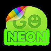 Green neon theme GO SMS Pro