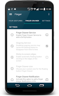 Finger Gesture Launcher - screenshot thumbnail