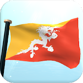 Bhutan Flag 3D Free Wallpaper