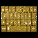Gold Glitter Keyboard Skin icon