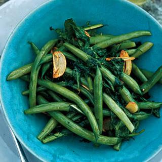 Green Beans and Arugula