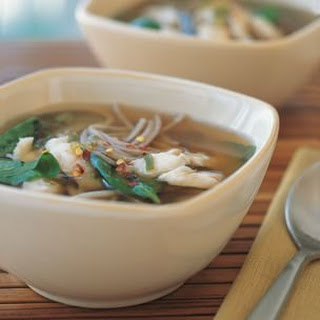 Miso Soup with Fish and Soba.
