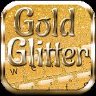 Teclado brillo del oro icon