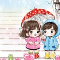Cartoon Couple Cute wallpapers icon