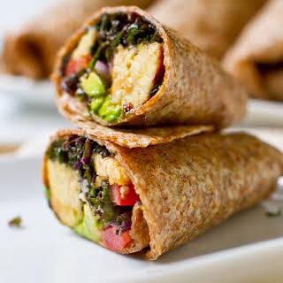 Kale Avocado Wraps w/ Spicy Miso-Dipped Tempeh..