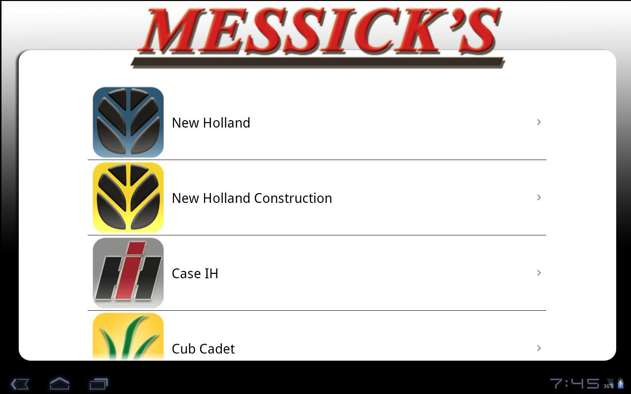 Messick's Parts for Tablets - screenshot