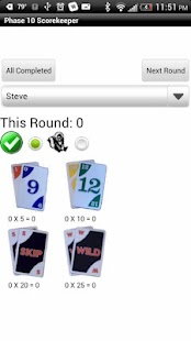 Phase 10 Scorekeeper Free- screenshot thumbnail