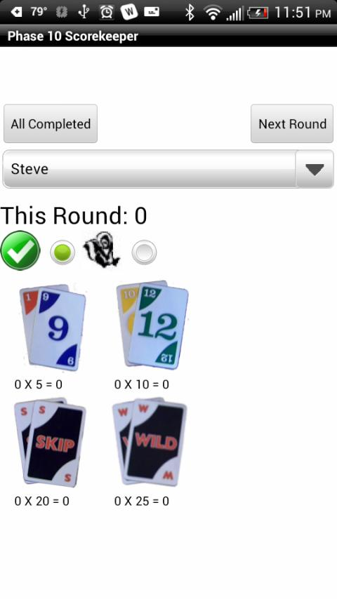 Phase 10 Scorekeeper Free- screenshot