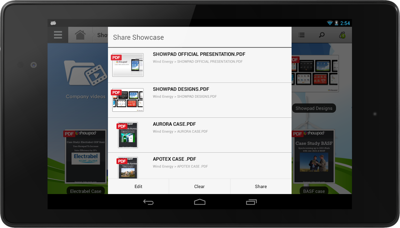 Showpad - screenshot
