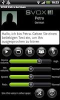 Screenshot of SVOX German Petra Voice