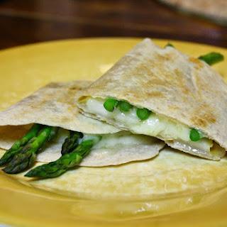 Pear And Asparagus Quesadillas