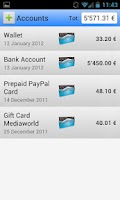Screenshot of My Expenses Free