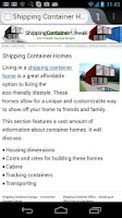Screenshot of Container House Plans (Free)