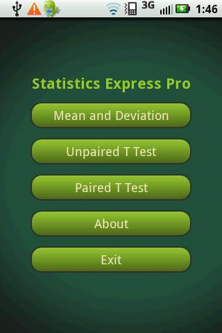 Statistics Express Pro- screenshot