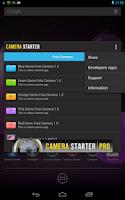 Screenshot of Camera Starter